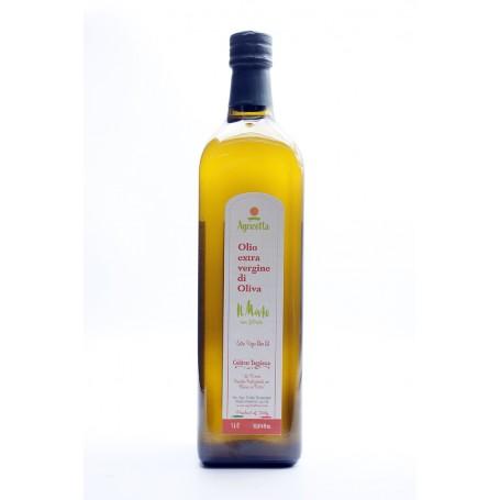Olio extra vergine mosto bottiglia 1 litro Taggiasca (Ag. Convenzionale)