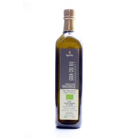 Karton 6 Flschen 1 Liter Bio Extra Vergine Olivenöl aus Taggiasca ernte 2020/21