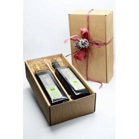 Geschänkbox 2 Liter Flaschen Bio Olivenöl Extra Vergine