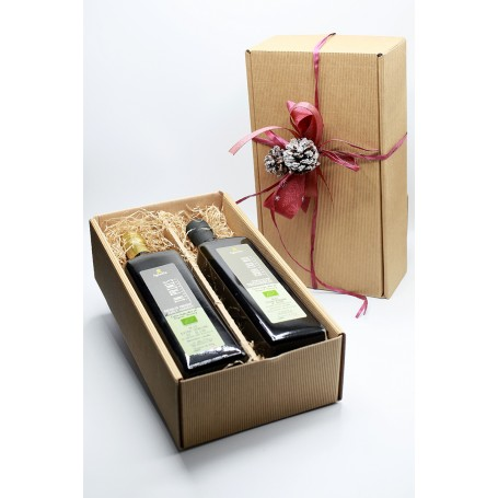Box 2 Bottles 1 Liter Organic Extra Virgin Olive Oil