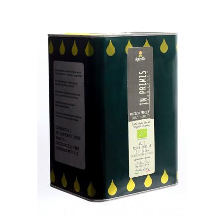 """In Primis"" Extra virgin Olive Oil  Organic Hearly Harvest 2020 3 L"