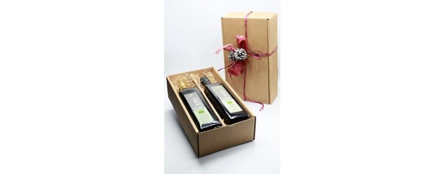 Geschänkboxen mit Unseren Bio Produkte und Olivenöl